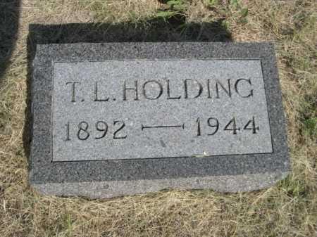 HOLDING, T.L. - Dawes County, Nebraska   T.L. HOLDING - Nebraska Gravestone Photos