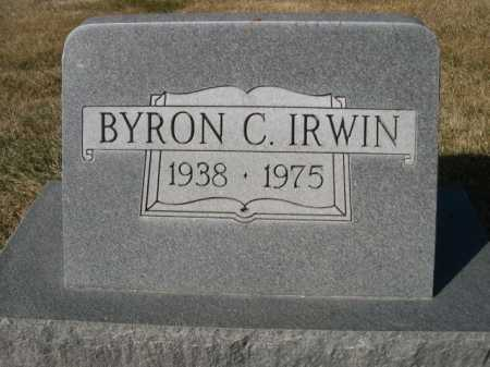 IRWIN, BYRON C. - Dawes County, Nebraska | BYRON C. IRWIN - Nebraska Gravestone Photos