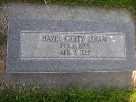 CARTY ISHAM, HAZEL - Dawes County, Nebraska   HAZEL CARTY ISHAM - Nebraska Gravestone Photos