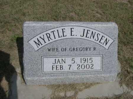JENSEN CRIPPS, MYRTLE E. - Dawes County, Nebraska   MYRTLE E. JENSEN CRIPPS - Nebraska Gravestone Photos