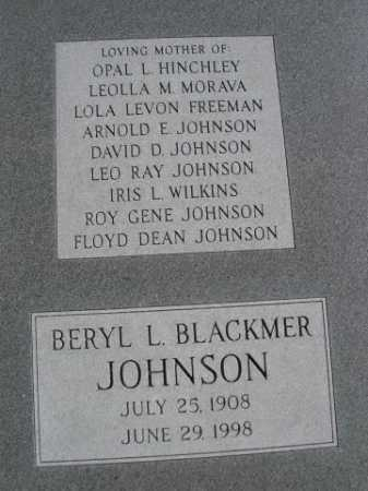 BLACKMER JOHNSON, BERYL L. - Dawes County, Nebraska | BERYL L. BLACKMER JOHNSON - Nebraska Gravestone Photos