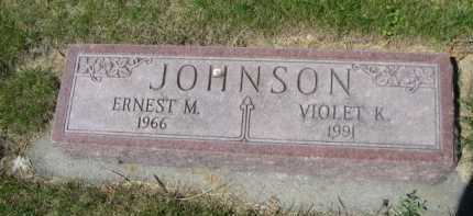 JOHNSON, ERNEST M. - Dawes County, Nebraska | ERNEST M. JOHNSON - Nebraska Gravestone Photos