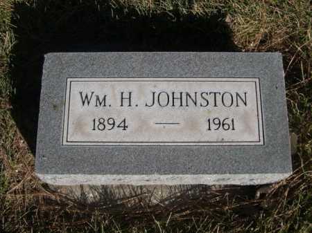 JOHNSTON, WM. H. - Dawes County, Nebraska | WM. H. JOHNSTON - Nebraska Gravestone Photos