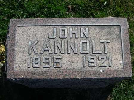 KANNOLT, JOHN - Dawes County, Nebraska | JOHN KANNOLT - Nebraska Gravestone Photos