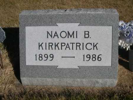 KIRKPATRICK, NAOMI B. - Dawes County, Nebraska | NAOMI B. KIRKPATRICK - Nebraska Gravestone Photos
