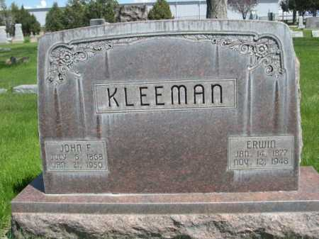 KLEEMAN, JOHN F. - Dawes County, Nebraska | JOHN F. KLEEMAN - Nebraska Gravestone Photos