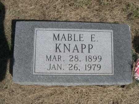 KNAPP, MABLE E. - Dawes County, Nebraska   MABLE E. KNAPP - Nebraska Gravestone Photos