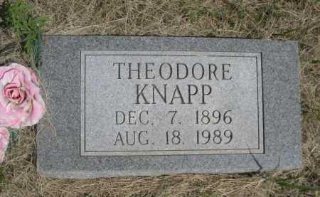 KNAPP, THEODORE - Dawes County, Nebraska | THEODORE KNAPP - Nebraska Gravestone Photos