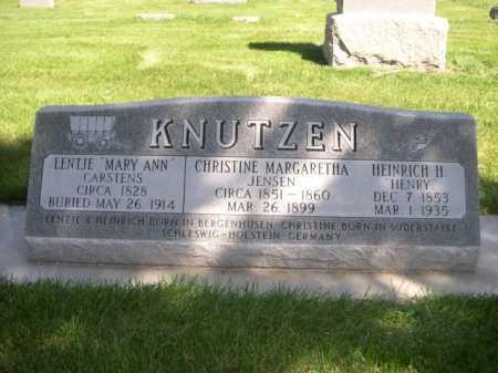 "CARSTENS KNUTZEN, LENTJE ""MARY ANN"" - Dawes County, Nebraska | LENTJE ""MARY ANN"" CARSTENS KNUTZEN - Nebraska Gravestone Photos"