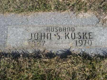 KOSKE, JOHN S. - Dawes County, Nebraska   JOHN S. KOSKE - Nebraska Gravestone Photos