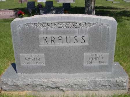 KRAUSS, JOHN E. - Dawes County, Nebraska | JOHN E. KRAUSS - Nebraska Gravestone Photos