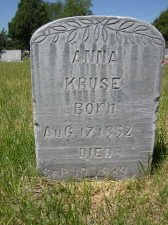 KRUSE, ANNA - Dawes County, Nebraska | ANNA KRUSE - Nebraska Gravestone Photos