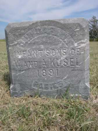 KUSEL, INFANT SONS OF W & A. - Dawes County, Nebraska | INFANT SONS OF W & A. KUSEL - Nebraska Gravestone Photos