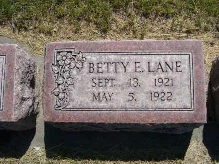 LANE, BETTY E. - Dawes County, Nebraska   BETTY E. LANE - Nebraska Gravestone Photos