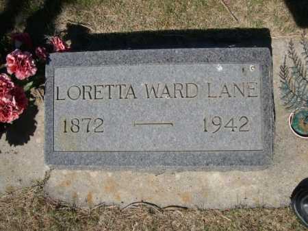 LANE, LORETTA WARD - Dawes County, Nebraska | LORETTA WARD LANE - Nebraska Gravestone Photos