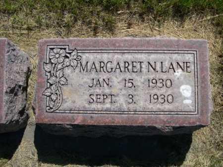 LANE, MARGARET N. - Dawes County, Nebraska   MARGARET N. LANE - Nebraska Gravestone Photos