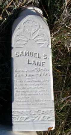 LANE, SAMUEL S. - Dawes County, Nebraska | SAMUEL S. LANE - Nebraska Gravestone Photos