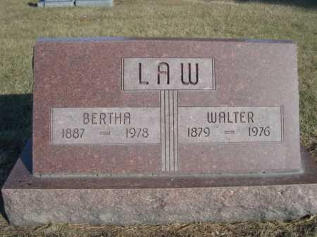 LAW, WALTER - Dawes County, Nebraska | WALTER LAW - Nebraska Gravestone Photos