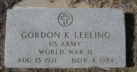 LEELING, GORDON K. - Dawes County, Nebraska | GORDON K. LEELING - Nebraska Gravestone Photos