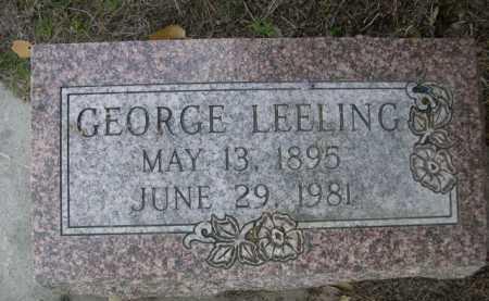 LEELING, GEORGE - Dawes County, Nebraska | GEORGE LEELING - Nebraska Gravestone Photos
