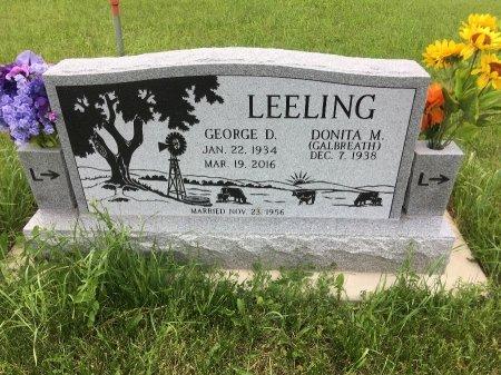 LEELING, GEORGE D - Dawes County, Nebraska | GEORGE D LEELING - Nebraska Gravestone Photos