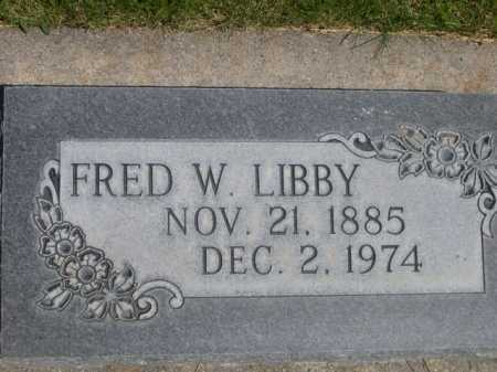 LIBBY, FRED W. - Dawes County, Nebraska | FRED W. LIBBY - Nebraska Gravestone Photos