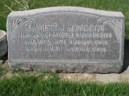 LONGCOR, EMMETT J. - Dawes County, Nebraska | EMMETT J. LONGCOR - Nebraska Gravestone Photos