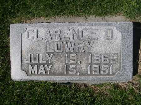 LOWRY, CLARENCE O. - Dawes County, Nebraska   CLARENCE O. LOWRY - Nebraska Gravestone Photos