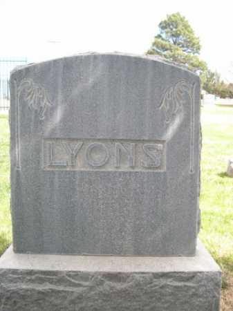 LYONS, FAMILY - Dawes County, Nebraska | FAMILY LYONS - Nebraska Gravestone Photos