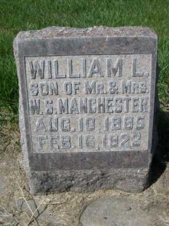 MANCHESTER, WILLIAM L. - Dawes County, Nebraska | WILLIAM L. MANCHESTER - Nebraska Gravestone Photos