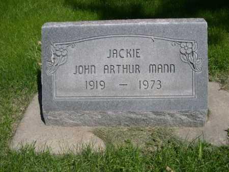 "MANN, JOHN ARTHUR ""JACKIE"" - Dawes County, Nebraska   JOHN ARTHUR ""JACKIE"" MANN - Nebraska Gravestone Photos"