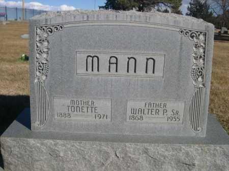 MANN, TONETTE - Dawes County, Nebraska | TONETTE MANN - Nebraska Gravestone Photos