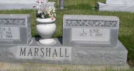 MARSHALL, L. IONE - Dawes County, Nebraska | L. IONE MARSHALL - Nebraska Gravestone Photos