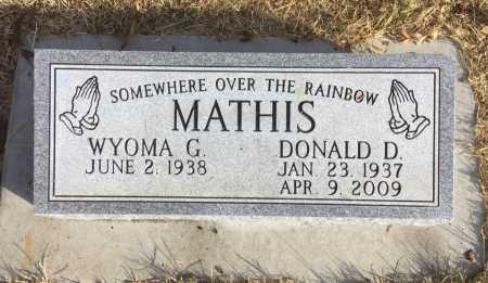 MATHIS, DONALD  D, - Dawes County, Nebraska | DONALD  D, MATHIS - Nebraska Gravestone Photos