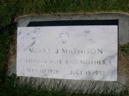 MATHISON, MERRY J. - Dawes County, Nebraska | MERRY J. MATHISON - Nebraska Gravestone Photos