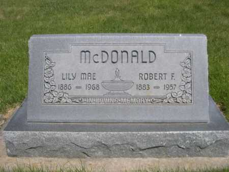 MCDONALD, LILY MAE - Dawes County, Nebraska   LILY MAE MCDONALD - Nebraska Gravestone Photos