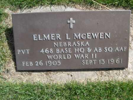 MCEWEN, ELMER L. - Dawes County, Nebraska   ELMER L. MCEWEN - Nebraska Gravestone Photos