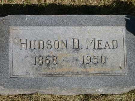MEAD, HUDSON D. - Dawes County, Nebraska | HUDSON D. MEAD - Nebraska Gravestone Photos