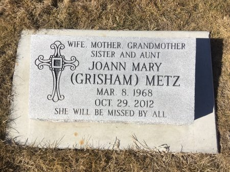 GRISHAM METZ, JOANN MARY - Dawes County, Nebraska | JOANN MARY GRISHAM METZ - Nebraska Gravestone Photos