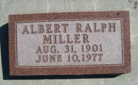 MILLER, ALBERT RALPH - Dawes County, Nebraska   ALBERT RALPH MILLER - Nebraska Gravestone Photos