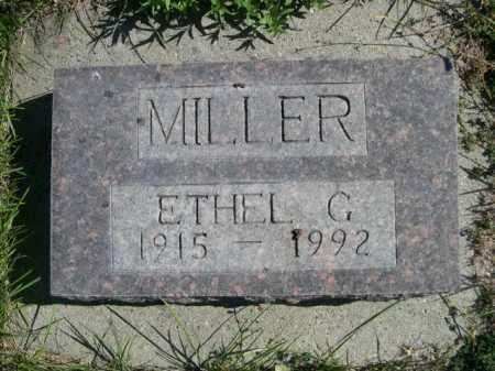 MILLER, ETHEL G. - Dawes County, Nebraska   ETHEL G. MILLER - Nebraska Gravestone Photos