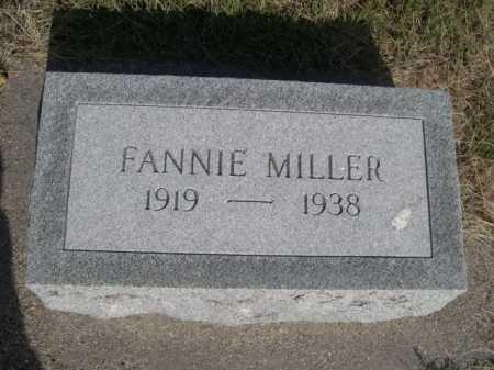 MILLER, FANNIE - Dawes County, Nebraska   FANNIE MILLER - Nebraska Gravestone Photos