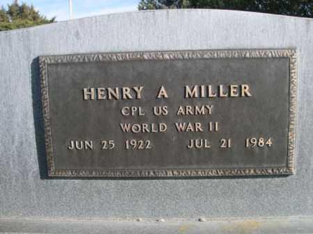 MILLER, HENRY A. - Dawes County, Nebraska | HENRY A. MILLER - Nebraska Gravestone Photos