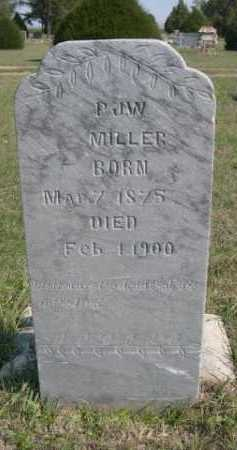 MILLER, PJW - Dawes County, Nebraska   PJW MILLER - Nebraska Gravestone Photos