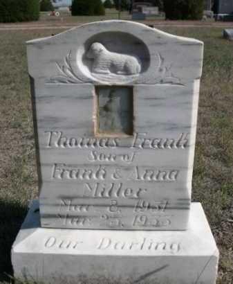 MILLER, THOMAS FRANK - Dawes County, Nebraska   THOMAS FRANK MILLER - Nebraska Gravestone Photos