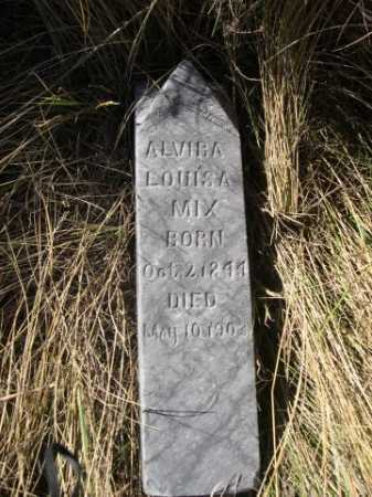 MIX, ALVIRA  LOUISA - Dawes County, Nebraska | ALVIRA  LOUISA MIX - Nebraska Gravestone Photos