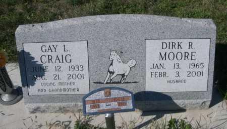 CRAIG MOORE, GAY L. - Dawes County, Nebraska   GAY L. CRAIG MOORE - Nebraska Gravestone Photos