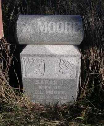 MOORE, SARAH J. - Dawes County, Nebraska | SARAH J. MOORE - Nebraska Gravestone Photos