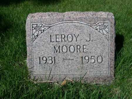 MOORE, LEROY J. - Dawes County, Nebraska | LEROY J. MOORE - Nebraska Gravestone Photos