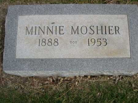 MOSHIER, MINNIE - Dawes County, Nebraska   MINNIE MOSHIER - Nebraska Gravestone Photos